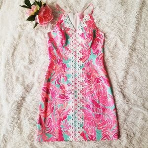 Lilly Pulitzer Pearl Lace Shift Dress Love Birds 0